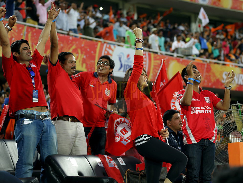 during match 39 of the Pepsi Indian Premier League Season 2014 between the Sunrisers Hyderabad and the Kings XI Punjab held at the Rajiv Gandhi Cricket Stadium, Hyderabad, India on the 14th May  2014<br /> <br /> Photo by Sandeep Shetty / IPL / SPORTZPICS<br /> <br /> <br /> <br /> Image use subject to terms and conditions which can be found here:  http://sportzpics.photoshelter.com/gallery/Pepsi-IPL-Image-terms-and-conditions/G00004VW1IVJ.gB0/C0000TScjhBM6ikg