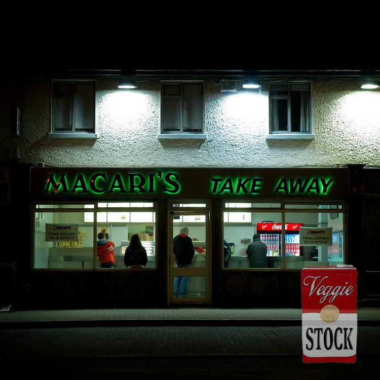 Fish and Chip Shop, Dublin, Ireland, February 2010.
