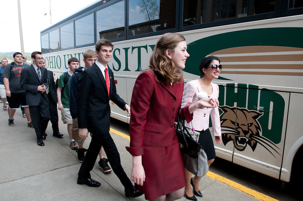 Mrs. McDavis accompanies the Ohio University Forensics Team to the Ohio House of Representatives in Columbus where they will be recognized for their outstanding record in competitive collegiate speech and debate.