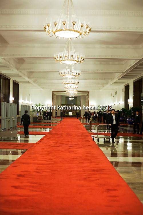 BEIJING, NOV. 8, 2012 :  der Eingang der Grossen Halle des Volkes .