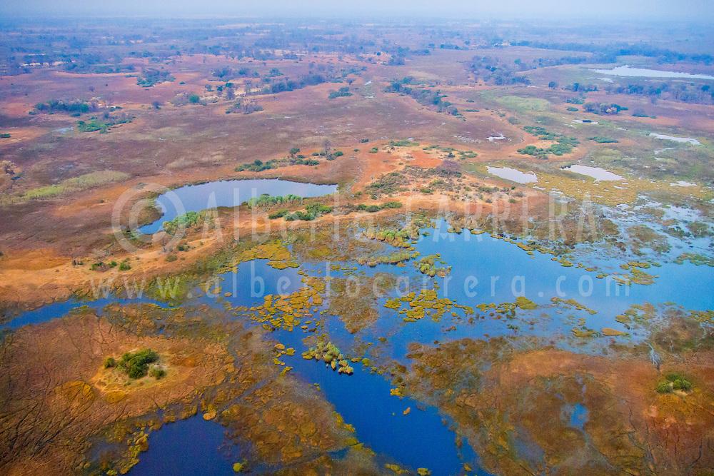 Alberto Carrera, Aerial view, Okavango Delta, Botswana, Africa