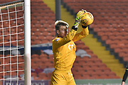 Blackpool Goalkeeper, Joe Lumley (28) saves during the EFL Sky Bet League 1 match between Blackpool and Bristol Rovers at Bloomfield Road, Blackpool, England on 13 January 2018. Photo by Mark Pollitt.