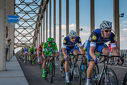 Peloton with stage winner KITTEL Marcel from Germany of Etixx - Quick Step (BEL) at the final lap, 1200m before the finish on the Waalbridge at Nijmegen, stage 2 from Arnhem to Nijmegen running 190 km of the 99th Giro d'Italia (UCI WorldTour), The Netherlands, 7 May 2016. Photo by Pim Nijland / PelotonPhotos.com | All photos usage must carry mandatory copyright credit (Peloton Photos | Pim Nijland)