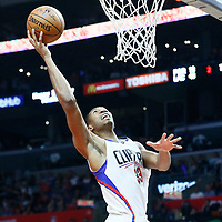 09 November 2016: Los Angeles Clippers forward Wesley Johnson (33) goes for the layup during the LA Clippers 111-80 victory over the Portland Trail Blazers, at the Staples Center, Los Angeles, California, USA.