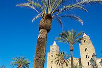 Italie, Sicile, district de Palerme, Cefalu, la cathedrale normande // Italy, Sicily, Palermo district, Cefalu, the Cathedrale