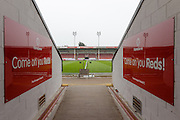 Players tunnel at the Banks,s stadium during the Sky Bet League 1 play-off second leg match between Walsall and Barnsley at the Banks's Stadium, Walsall, England on 19 May 2016. Photo by Dennis Goodwin.
