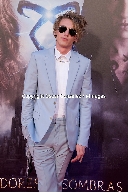 Jamie Campbell Bower  during 'The Mortal Instruments: City of Bones' premiere at Callao cinema in Madrid, Spain, Thursday 22nd August, 2013. Photo by Oscar Gonzalez / i-Images.<br /> SPAIN OUT