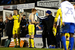 Rory Gaffney of Bristol Rovers receives treatment for a nose injury - Mandatory by-line: Matt McNulty/JMP - 14/03/2017 - FOOTBALL - Gigg Lane - Bury, England - Bury v Bristol Rovers - Sky Bet League One