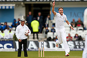 England & Nottinghamshire bowler Stuart Broad  thinks he's got the edge during day 3 of the first Investec Test Series 2016 match between England and Sri Lanka at Headingly Stadium, Leeds, United Kingdom on 21 May 2016. Photo by Simon Davies.