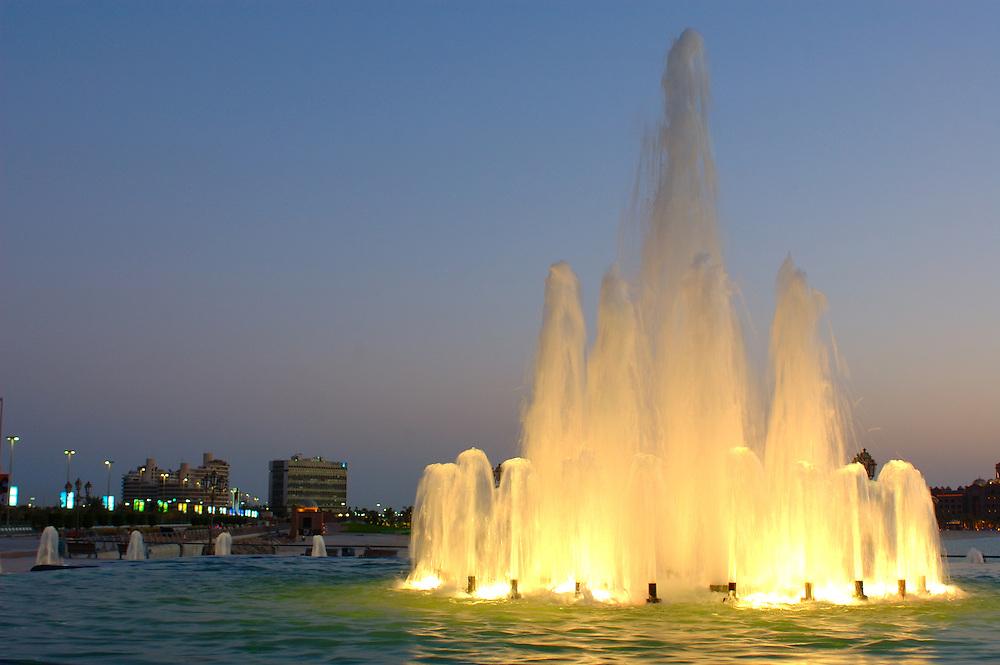 Fountain at Marina Mall, Abu Dhabi, United Arab Emirates, UAE, Arabian Peninsula