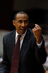 Nov 15, 2011; Stanford CA, USA;  Stanford Cardinal head coach Johnny Dawkins on the sidelines against the Colorado State Rams during the first half of a preseason NIT game at Maples Pavilion. Mandatory Credit: Jason O. Watson-US PRESSWIRE