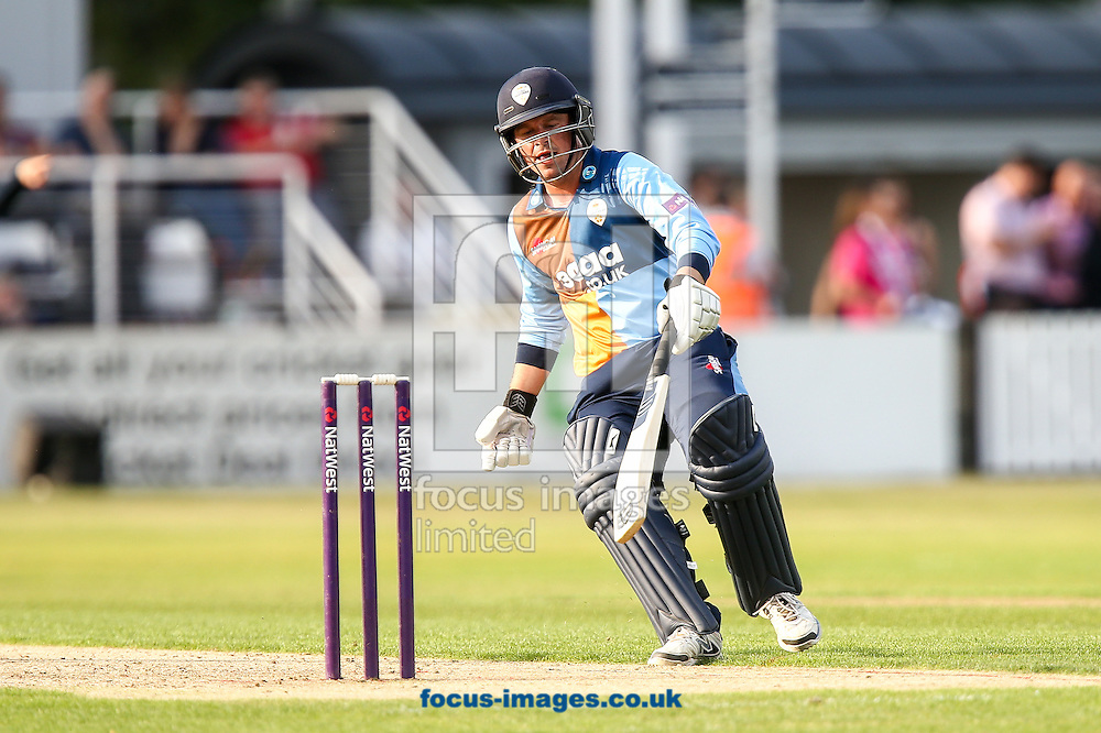 Gareth Cross of Derbyshire Falcons during the Natwest T20 Blast match at the County Ground, Northampton<br /> Picture by Andy Kearns/Focus Images Ltd 0781 864 4264<br /> 11/07/2014