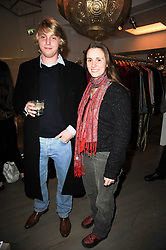 HARRY GRENFELL and ZITA LLOYD at reception to raise funds for a Ugandan School Project supported by the Henry van Straubenzee Memorial Fund held at Few & Far, 242 Brompton Road, London SW3 on 11th February 2010.