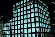UK, London, Empty office space with the lights on at night.<br /> <br /> Picture by Zute Lightfoot