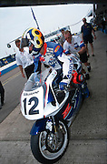 Superbike racer and commentator Jamie Witham at Donington