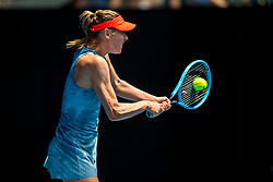 January 20, 2019 - Melbourne, VIC, U.S. - MELBOURNE, AUSTRALIA - JANUARY 20 : Maria Sharapova of ÊRussia returns the ball during day 7 of the Australian Open on January 20 2019, at Melbourne Park in Melbourne, Australia.(Photo by Jason Heidrich/Icon Sportswire) (Credit Image: © Jason Heidrich/Icon SMI via ZUMA Press)