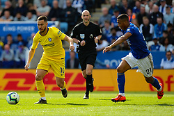 May 12, 2019 - Leicester, England, United Kingdom - Eden Hazard of Chelsea on the ball under pressure from Leicester City midfielder Youri Tielemans during the Premier League match between Leicester City and Chelsea at the King Power Stadium, Leicester on Sunday 12th May 2019. (Credit Image: © Mi News/NurPhoto via ZUMA Press)