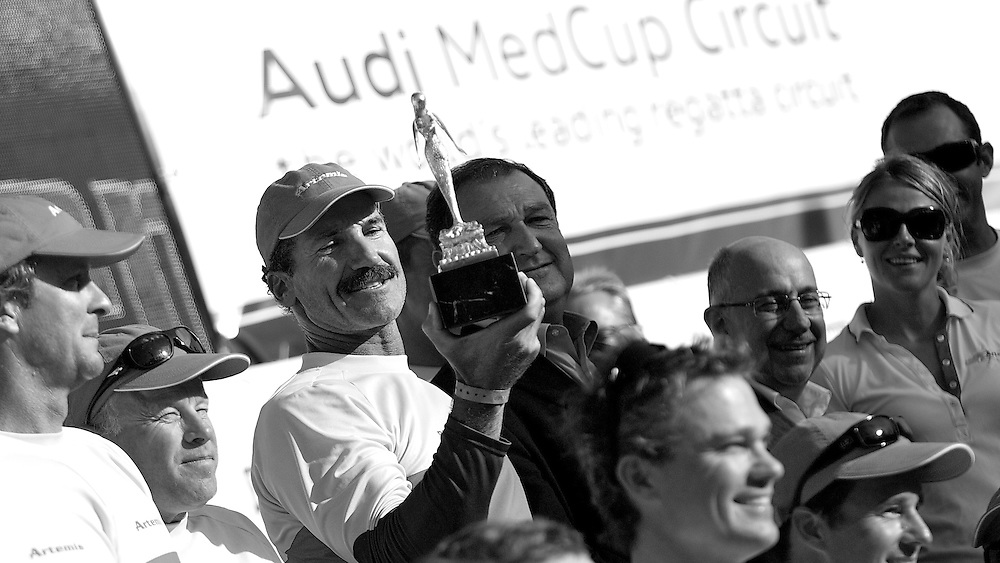 SPAIN, Barcelona, AUDI MedCup, 25th July 2010,  Camper Regatta - Conde de Godo Trophy, Prizegiving ceromony, Paul Cayard, Artemis.