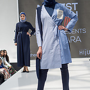 Jenahara collection  showcases it latest collection Modest and beautiful at the Modest and Beautiful a Modest Fashion Live at The Atrium in Westfield London on June 24, 2018.
