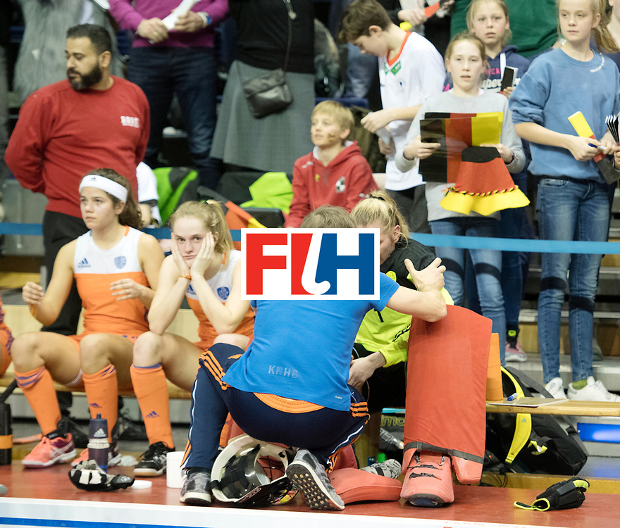 BERLIN - Indoor Hockey World Cup<br /> Final: Netherlands - Germany<br /> foto: Alexandra Heerbaart (GK)  <br /> WORLDSPORTPICS COPYRIGHT FRANK UIJLENBROEK