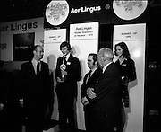 03/01/1975.01/03/1975.3rd January 1975.The Aer Lingus Young Scientist Exhibition at the RDS, Dublin...Picture shows the Young Scientist of the Year Noel Boyle and the runner-up girl (name unknown). Also pictured on the right is the Chairman of Aer Lingus, Patrick Lynch. ..