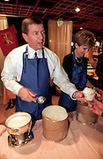 Conservative Republican Senator John Ashcroft serves ice cream to supporters at the Road to Victory event at the Christian Coalition Conference October 1, 1999 in Washington, DC.