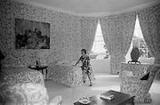 19/08/1966<br /> 08/19/1966<br /> 19 August 1966<br /> United States Ambassador's residence, Phoenix Park, Dublin.<br /> Mrs Caroline Guest in a guest bedroom.