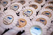 Badges for the judges of the World Dog Show 2017 in Leipzig, Germany. Over 31,000 dogs from 73 nations will come together from 8-12 November 2017 in Leipzig for the biggest dog show in the world.