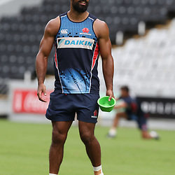 Reece Robinson of the NSW Waratahs during the NSW Waratahs Cap Run at  Growthpoint Kings Park Durban , South Africa. March 9th 2017(Photo by Steve Haag)<br /> <br /> images for social media must have consent from Steve Haag