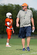 "Frisco Wakeland High School football coach Marty Secord  wears his Nike gear during practice in Frisco, Texas on August 23, 2016. ""CREDIT: Cooper Neill for The Wall Street Journal""<br /> TX HS Football sponsorships"