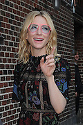 Oct. 8, 2015 - New York, NY, USA - <br /> <br /> Cate Blanchett arrivals to tape an appearance on the Late Show with Stephen Colbert <br /> ©Exclusivepix Media