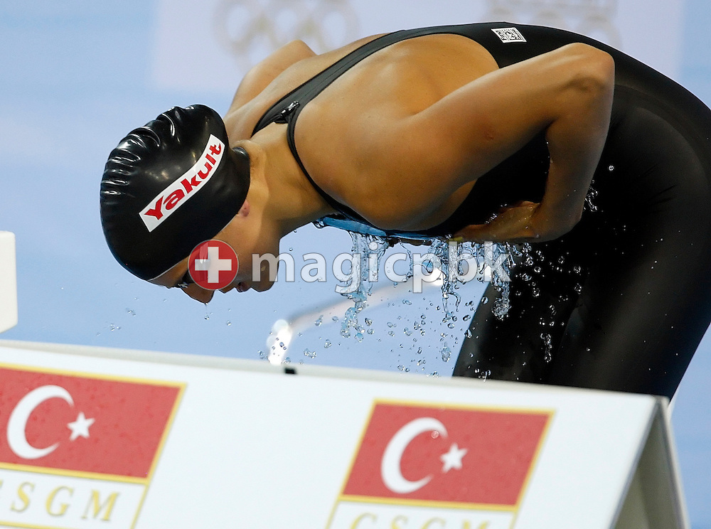 Patrizia HUMPLIK of Switzerland prepares herself before competing in the women's 200m breaststroke Heats at the 13th European Short Course Swimming Championships in Istanbul, Turkey, Friday, Dec. 11, 2009. (Photo by Patrick B. Kraemer / MAGICPBK)