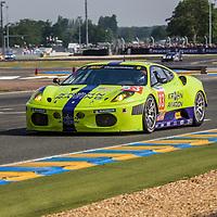 #83, Ferrari, F430 GTC, Risi Competizione, drivers: Tracy Krohn, Niclas Jönsson, Eric van de Poele, at Le Mans 24 Hours, 2010