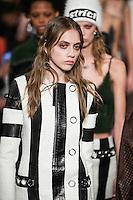 Odette Pavlova walks the runway wearing Alexander Wang Fall 2016 during New York Fashion Week on February 13, 2016