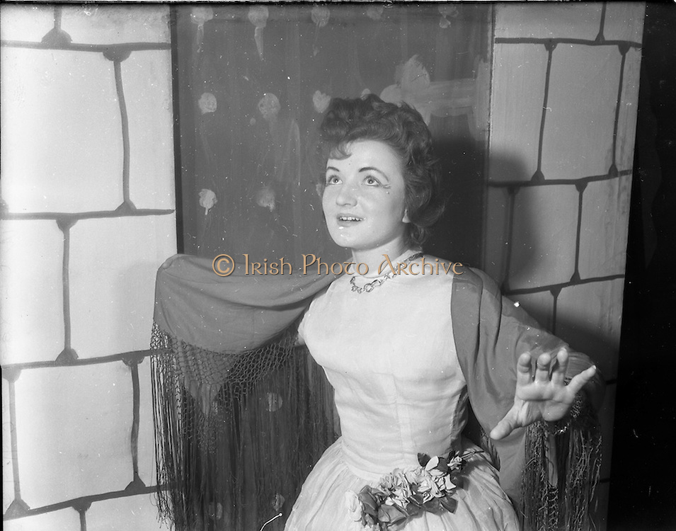"""27/11/1952<br /> 11/27/1952<br /> 27 November 1952<br /> Celine Murphy as """"Runaway Girl"""", O'Connell School Musical and Dramatic Society."""