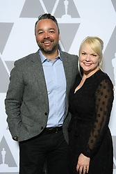 """Evan Hayes and Shannon Dill of the Oscar® nominated documentary feature """"Free Solo"""" prior to the Academy of Motion Picture Arts and Sciences' """"Oscar Week: Documentaries"""" event on Tuesday, February 19, 2019 at the Samuel Goldwyn Theater in Beverly Hills. The Oscars® will be presented on Sunday, February 24, 2019, at the Dolby Theatre® in Hollywood, CA and televised live by the ABC Television Network."""