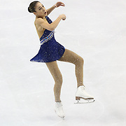 Leah Keiser competes during the championship ladies free skate at the 2014 US Figure Skating Championships at the TD Garden on January 11, 2014 in Boston, Massachusetts.