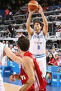 DESCRIZIONE : Madrid Spagna Spain Eurobasket Men 2007 Qualifying Round Italia Turchia Italy Turkey GIOCATORE : Marco Mordente <br /> SQUADRA : Nazionale Italia Uomini Italy <br /> EVENTO : Eurobasket Men 2007 Campionati Europei Uomini 2007 <br /> GARA : Italia Turchia Italy Turkey <br /> DATA : 10/09/2007 <br /> CATEGORIA : Tiro <br /> SPORT : Pallacanestro <br /> AUTORE : Ciamillo&amp;Castoria/E.Castoria <br /> Galleria : Eurobasket Men 2007 <br /> Fotonotizia : Madrid Spagna Spain Eurobasket Men 2007 Qualifying Round Italia Turchia Italy Turkey Predefinita :