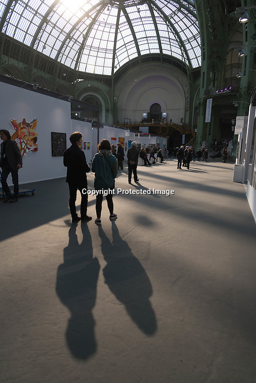 France. Paris in The Grand Palais. / art Paris, Art Fair Foire dans le Grand Palais