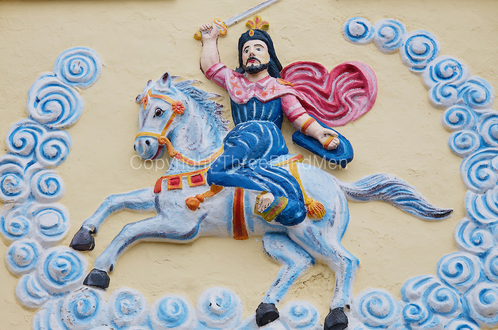 St. James. detail from Church of same name on the island of Kayts. Jaffna.