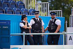 LIVERPOOL, ENGLAND - Thursday, June 15, 2017: Police during Day One of the Liverpool Hope University International Tennis Tournament 2017 at the Liverpool Cricket Club. (Pic by David Rawcliffe/Propaganda)