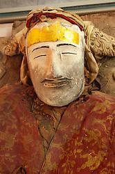 Preserved mummies on display at Regional Museum in Urumqi, Xinjiang, china