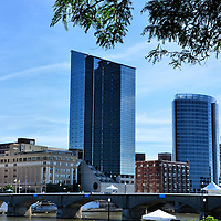Downtown Grand Rapids and Grand River in Grand Rapids, Michigan<br />