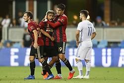 September 19, 2018 - San Jose, California, United States - San Jose, CA - Wednesday September 19, 2018: Josef Martinez, Brandon Vazquez during a Major League Soccer (MLS) match between the San Jose Earthquakes and Atlanta United FC at Avaya Stadium. (Credit Image: © Bob Drebin/ISIPhotos via ZUMA Wire)