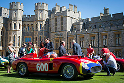 © London News Pictures. 07/09/2012. Windsor, UK . A 1956 Ferrari 290 MM Spider , one of 60 of the rarest motorcars from around the world at Windsor Castle in Berkshire for the WIndsor Castle Concours Of Elegance on September 07, 2012. The three day event is open to the public on Saturday and Sunday. Photo credit: Ben Cawthra/LNP