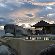 Sunset at the Presidential Villa at the Evason Hideaway in Nha Trang, Vietnam.