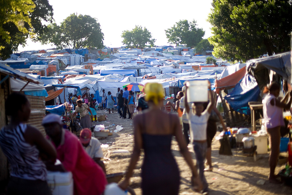 Just after the January 12th earthquake Port-Au-Prince's only golf course the Pétionville Golf and Tennis Club transformed into the largest settlement with over 40,000 IDPs.