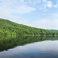 A panoramic view of Willard Pond and Bald Mountain. The area is a NH Audubon Sanctuary in Antrim, NH.  All Content is Copyright of Kathie Fife Photography. Downloading, copying and using images without permission is a violation of Copyright.