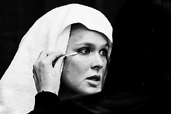 Los Angeles, California, USA - February 25, 2015: Ronda Rousey gets her makeup touched up after working out at the UFC Gym for her upcoming bout against Cat Zingano at UFC 184 at the Staples Center in Los Angeles, California.  Ed Mulholland for ESPN