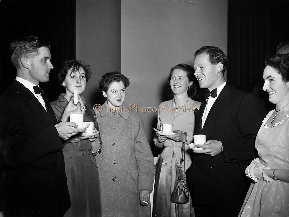 01/02/1954<br /> 02/01/1954<br /> 01 February 1954<br /> Literary and Historical Debating Society inaugural meeting at UCD.